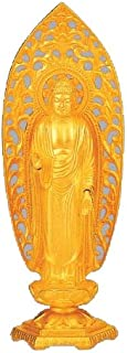 Tokyo Art Gallery ISHIHARA - Amitabha Tathagata (Amida-nyorai) Japanese Alloy Statue with Box - Japan Imported [Standard Ship by EMS (Expedited) : with Tracking & Insurance]