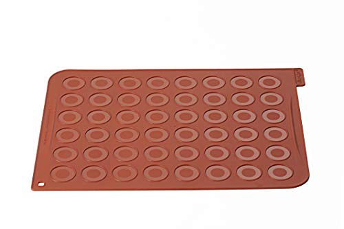 Silikomart MAC01 Kit Stampo Macarons 24 Sacchetti, Silicone, Rosa