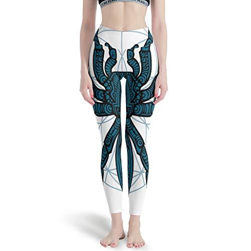 Wecrayon Spinne - Pantalones de yoga para mujer, de cintura alta, parpadeantes, deportivos, para correr, ocio, color blanco, tamaño xxx-large