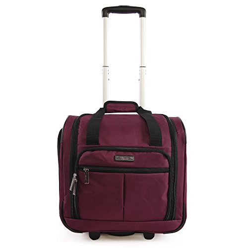 Pacific Coast Signature Underseat 15.5' Rolling Tote Carry-on, Red, One Size