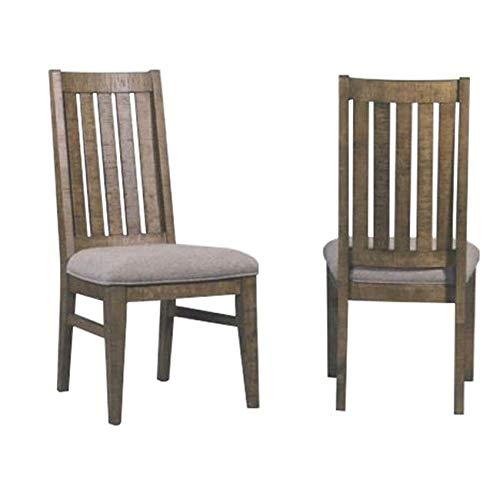 Intercon Urban Rustic Brushed Wheat Slat Back Side Chairs (Set of 2)