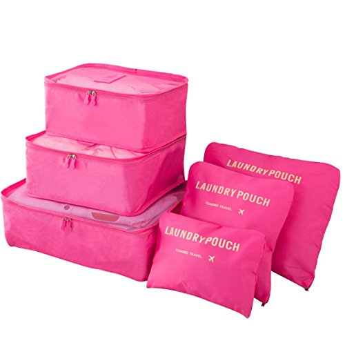BlueBeach® Set 6 Organizadores viajes Cubos embalaje