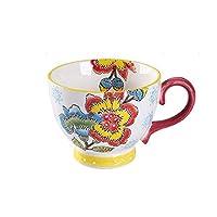 LYLSXY 飲むカップ、ノルディックスタイルカップマグカップドリンクティーミルクコーヒージューススープカップホームオフィスコーヒーショップティールーム,B