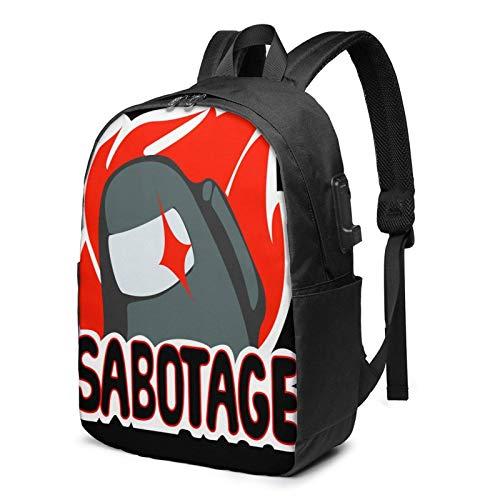 IUBBKI Bolsa para computadora mochila USB Am-On-G U-S Logo 17 Inch Laptop Backpack For Men & Women,Travel/School Backpack With Usb Charging Port & Headphone Interface