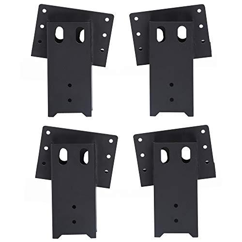 ADLER Multi-Use Outdoor 4x4 Compound Angle Platform Brackets for Deer Stand Hunting Blinds Shooting Shack, Tree House, Observation Decks, Set of 4, 16''x 7.5''x 9'', Black