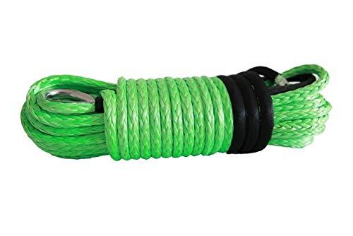 Dhmm123 Cuerdas de Remolque Cuerda de cabrestante sintético Verde 12 mm * 30M, Cable de cabrestante de reemplazo, extensión de Cuerda de cabrestante, Cuerdas de Remolque