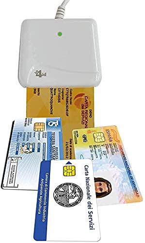 -Bit4id Evo Indoor Mini lecteur de carte à puce intelligente - Smart Card Reader Compatible avec Windows, Linux, Mac OS