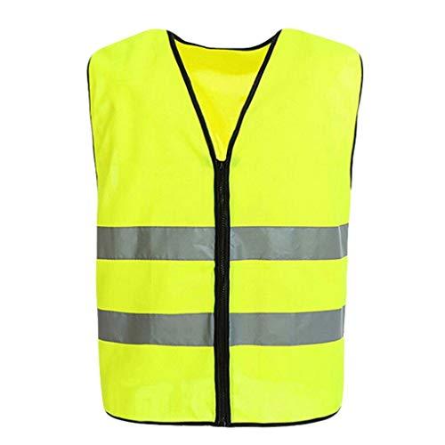 Chaleco de alta visibilidad Alta visibilidad chaleco de la luz y la seguridad en la noche transpirable ropa de trabajo de alta visibilidad Chaleco de seguridad 2pcs Chaleco de seguridad