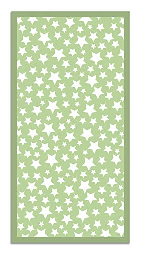 Panorama Alfombra Vinílica Estrellas Color Verde 300 x 200 cm - Alfombra Cocina Vinilo - Alfombra Salón Antideslizante, Antihongos e Ignífuga - Alfombras Grandes - Alfombras PVC
