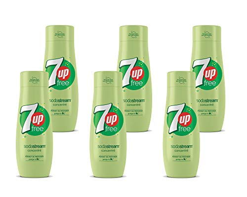 SodaStream Sirup 7UP free  - 1x Flasche ergibt 9 Liter Fertiggetränk, Sekundenschnell zubereitet und immer frisch, Seven Up ohne Zucker, 6er Pack (6 x 440 ml)