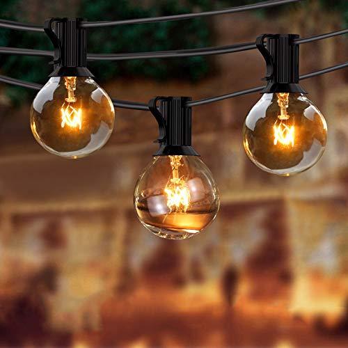 Lichterkette Außen, BACKTURE Globus Lichterkette Außen/Innen 9,5m 25 Glühbirnen mit 4 Ersatz, Warmweiß, Lichterketten Beleuchtung, für Xmas Garten Terrasse Hochzeit Hof Haus Party Dekoration