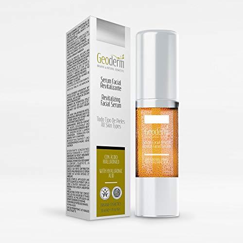 Vitamin C and Hyaluronic Acid Facial Serum | Organic Serum with Aloe Vera - Vitamin E - Jojoba Oil and Calendula | Dry and Sensitive Skin | Anti Aging - Anti Wrinkle - Anti Stain | 50 ml