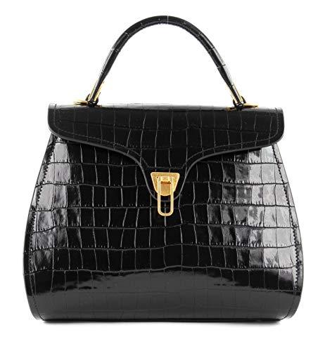Coccinelle Marvin Croco Small Handbag Noir