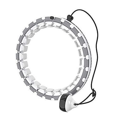 PPTF Smart Hula-Reifen, Gewichtetes Hula-Reifen, 360 ° Automatische Rotation Fitness-Taillenstraining, Abnehmbarer Hula-Reifen, Geeignet Für Anfänger, Erwachsene Und Kinder (Color : A)