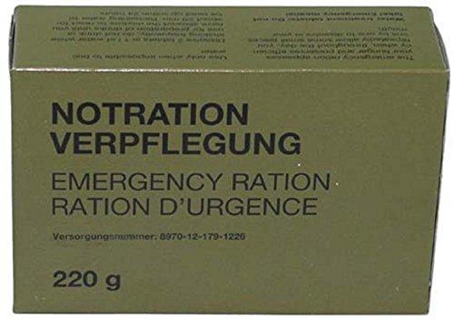 Bundeswehr Camping Outdoor Notration Verpflegung Notverpflegungsration 220 g
