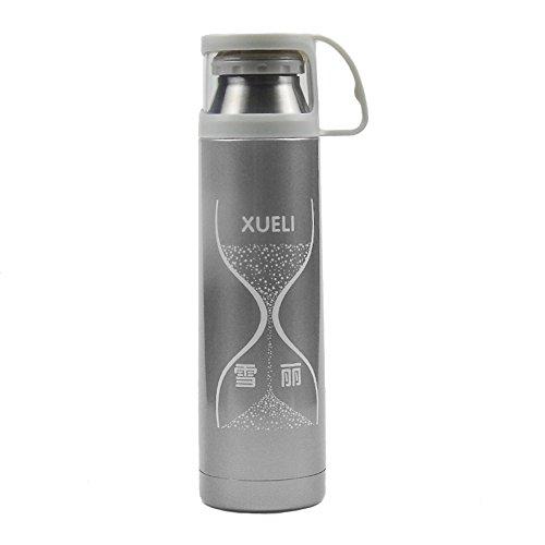 Eco-friendly bouteille d'eau en acier inoxydable garder au chaud pour l'intérieur extérieur bouteille d'eau Voyage ma bouteille d'eau en acier inoxydable (gris foncé)