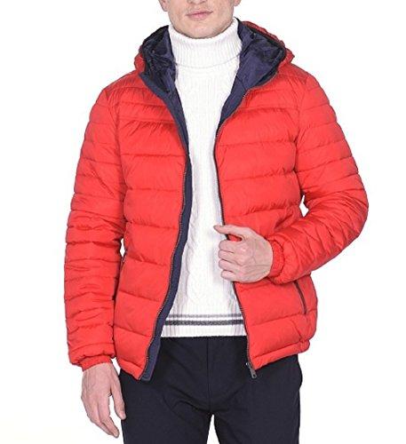 Snowimage Man G102 Herren WinterJacke Daunen-Optik (Länge: 81 cm) rot, 52