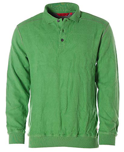 Signum Herren Sweatshirt Sweater Polokragen Polopullover Grass L
