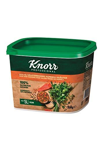 Knorr Basis für Salatdressing Paprika Kräuter, 100% natürliche Zutaten, 1er Pack (1 x 0.5 kg)