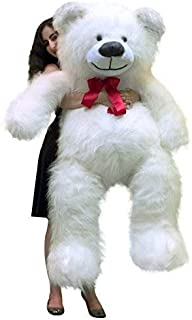 Big Plush Valentine's Day 5 Foot Giant White Teddy Bear 60 Inch Soft Made in USA
