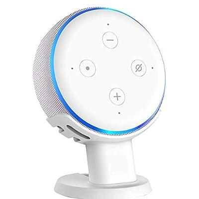 oGoDeal Stand for Echo Dot 3rd Generation Speaker Holder Dot Accessories Desk Table Mount Bracket (White) by oGoDeal