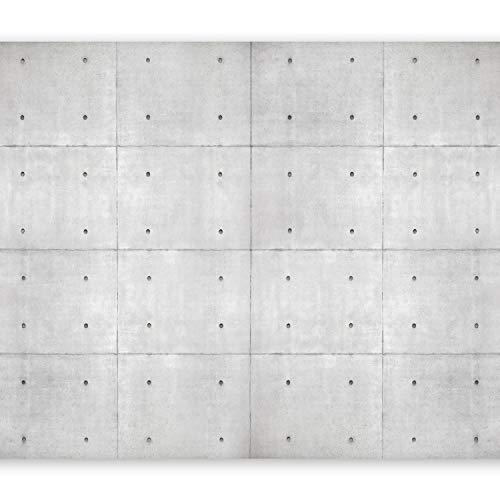 murando Papier peint intissé 350x256 cm Décoration Murale XXL Poster Tableaux Muraux Tapisserie Photo Trompe l'oeil noyaux béton Industrial 10110905-95