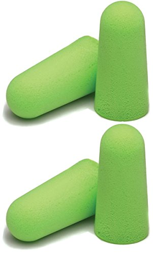 Moldex 6800 Pura-Fit Single-Use Earplugs, Cordless, 33NRR, Bright Green, 200 Pairs