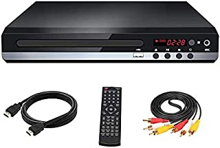 DVD Player for TV, Multi-Format Region Free DVD CD/Disc Player, HDMI Cable Included, USB/MIC Input for TV, Built-in PAL/NT...