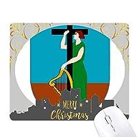 モンセラートのラテンのアメリカ 国章 クリスマスイブのゴムマウスパッド