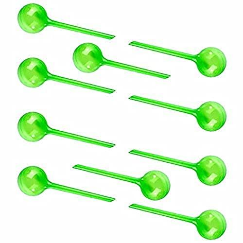 Emishin Set van 10 gietballen, kwantitatieve irrigatie, pot plastic water dispensers, tuinplanten (L, groen)