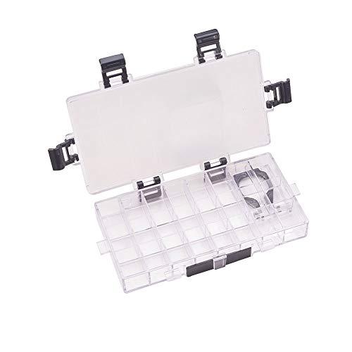 WANDIC Caja de Paleta, 1 Unidad de 24 pozos vacíos herméticos para Acuarelas Gouache y Pintura al óleo, acrílico
