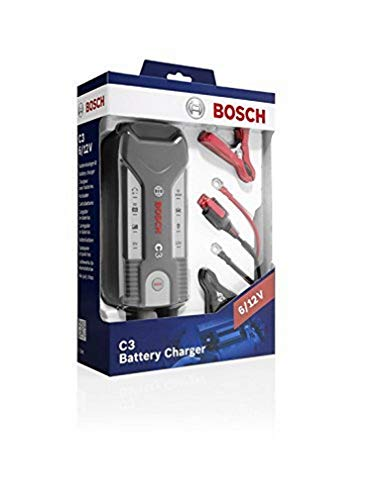Cargador automático de batería Bosch C3 para 6 -12 V / 3,8 A