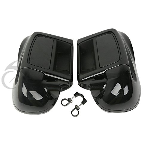 XFMT Vivid Black Fairing Lowers Lower Vented Leg Compatible with 2014-2019 Harley Touring Road King, Street Glide,Road Glide, Electra Glide, FLHTCU (P/N 49184-09A or 49050-09A; Wheel Kit P/N 433)