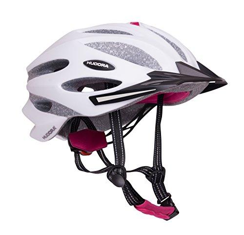 HUDORA Fahrradhelm Granit Damen Herren, Fahrrad-Helm Rad-Helm Gr. 58-61, grau/fuchsie