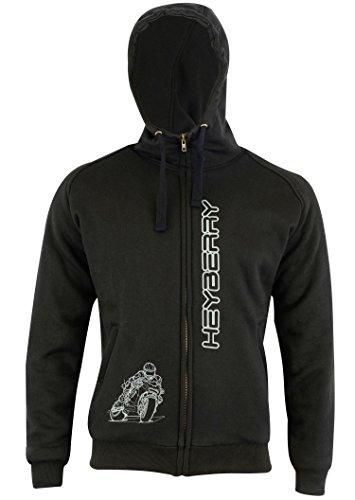 Heyberry Hoody Motorradjacke Hoodie Roller Jacke Schwarz Gr. XL - 4