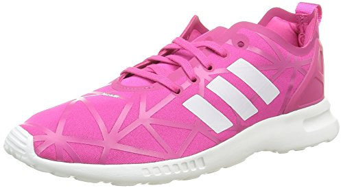 adidas Damen ZX Flux ADV Smooth W S79502 Sneakers, Pink (EQT Pink/EQT Pink/Core White), 38 EU