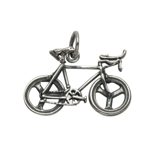 Wild Things Sterling Silver Mountain Bike Pendant