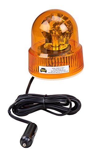 Wolo (3100-A) Beacon Light Rotating Emergency Warning Light - 12 Volt, Amber Lens by Wolo