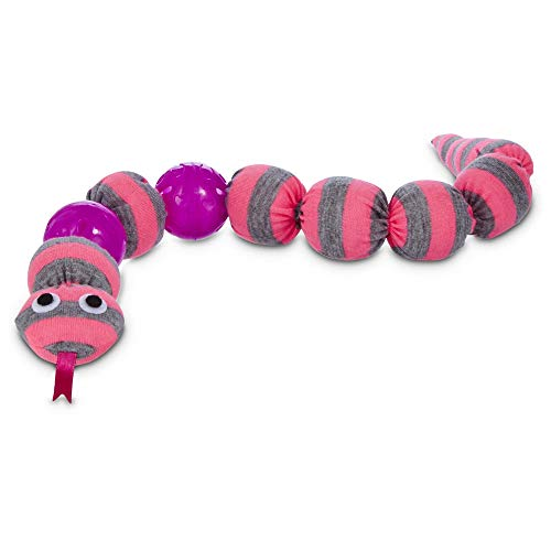 Leaps & Bounds Snake Cat Toy, One Size Fits All, Pink