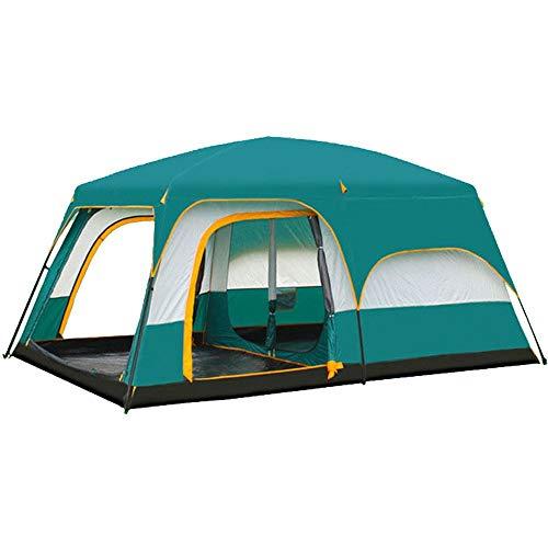 ChHAIS Groen Buiten Twee-slaapkamer Een Kamp Picknick Koude Warm Winddichte Tent Grote 8 Mensen 10 Mensen 12 Mensen Outdoor Uitrusting buitenproducten, Zwembad, Zwembed volwassene, sw