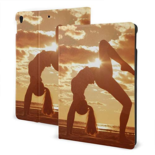 Outdoors Yoga New Ipad Case Fit 7th Generation/ Air3, Full-Body Trifold with Built-in Screen Protector Protective Smart Cover with Auto Sleep/Wake
