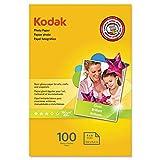 KODAK Photo Paper Gloss 4'x6', 100 count, 48lb-180g/m2 weight, 6.5 mil thickness (41160 - 1743327)…