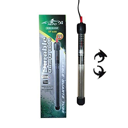 Hepo HP-608 - Termostato sumergible de cuarzo para acuario, 25 W a 300 W (25 W)