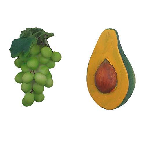 Avocado Grape 3D Koelkast Magneet Thuis Keuken Decoratie Handgemaakte hars Food Series Fruit Koelkast Magneet