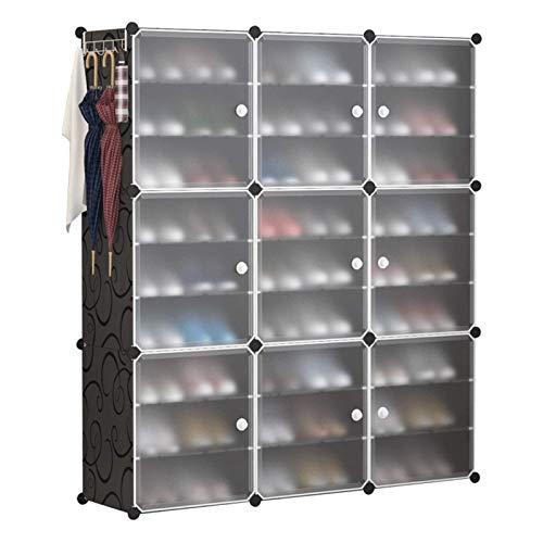Zapato portátil almacenaje 54 pares de estante de la torre de almacenamiento Soporte de gabinete expandible para tacones Botas zapatillas portátil zapato rack organizador espacio ahorro organizador AO