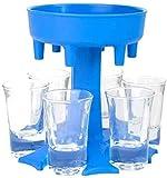 6 Schnapsglasspender und Halter, Schnapsglas und Tablett, Spender zum Befüllen von Flüssigkeiten, Cocktail-Shots Spender, Bar-Schnapsspender, Carrier Caddy Liquor Dispenser Geschenke Trinkspiele