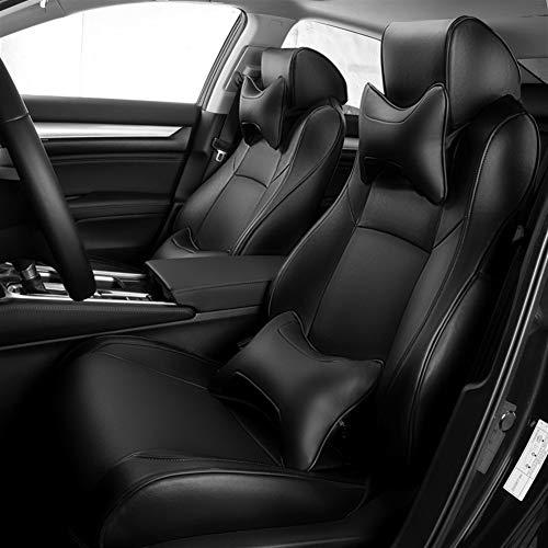 Esuhuang Asiento de microfibra de cuero sintético del coche cubiertas frontales y posterior auto cojines de los asientos for Ford Kuga Fiesta Mk7 Max Focus Mk1 2 guardabosques Mondeo MK4 Explorador Fi