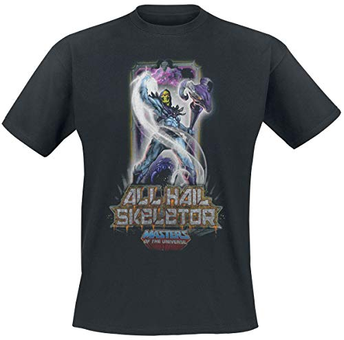 Masters of the Universe He-Man - Skeletor Männer T-Shirt schwarz L 100% Baumwolle Fan-Merch, TV-Serien