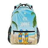 GIGIJY - Mochila de verano para la playa, para la escuela, para viajes, informal, para niños, niñas, niños, hombres, mujeres