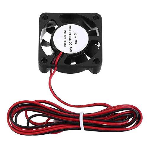 YINCHIE MUKUAI20 24v 0.06A 40mmx40mmx10mm sin escobillas Ventilador de refrigeración con cable para impresora 3D DIY